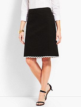 Tweed Scallop Skirt