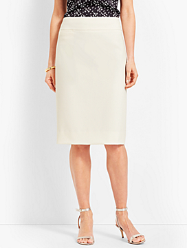 Luxe Double-Cloth Pencil Skirt
