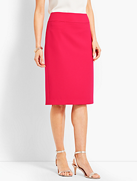 Luxe Italian Double-Cloth Pencil Skirt