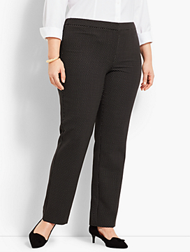 Womans Exclusive Mini Dot Straight-Leg Pant