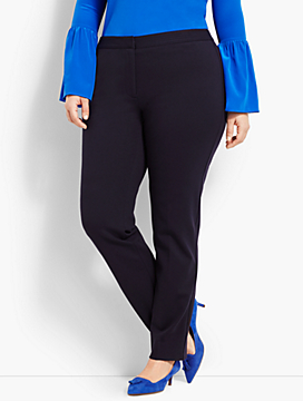 Womans Exclusive Italian Luxe Knit Slim-Leg Full-Length Pant