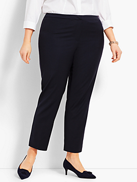 Womans Exclusive Seasonless Wool Slim Ankle Pant - Curvy Fit