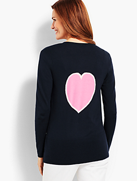 Open-Front Heart-Back Cardigan