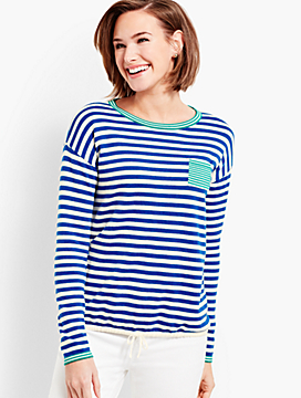 Resort Stripe Crewneck Sweater