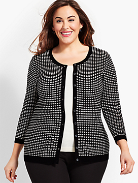 Womans Exclusive Textured-Stitch Cardigan