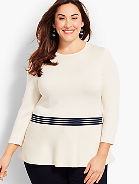 Stripe Peplum Topper