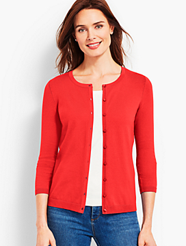 Three-Quarter-Sleeve Charming Cardigan