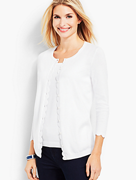 Charming Cardigan - Scalloped Edge