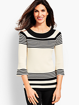 Melody Stripe Crewneck