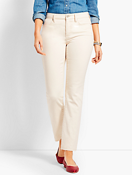 Let-Down Hem Denim Slim Ankle - Curvy Fit/Natural
