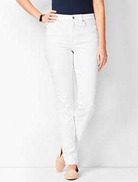 High-Waist Straight-Leg Jeans - Curvy Fit - White