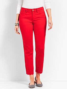 Scallop Denim Slim Ankle - Curvy Fit/Color