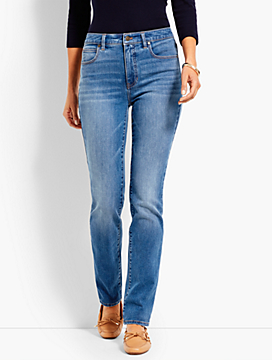 Denim High-Rise Straight-Leg- True Blue