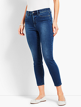 Denim Jegging Crop- Blue Diamond