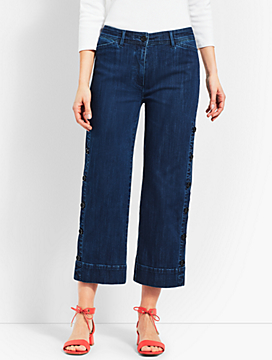 Denim Wide Crop- Sailor Wash