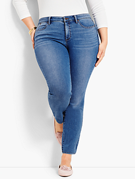 Plus Size Exclusive Luxe Stretch Denim Slim Ankle - Easton Wash