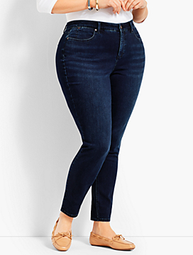 Woman Exclusive Luxe Stretch Denim Slim Ankle - Curvy Fit/Empire Blue