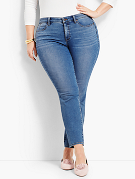 Womans Exclusive Luxe Stretch Denim Slim Ankle - Curvy Fit/Easton Wash