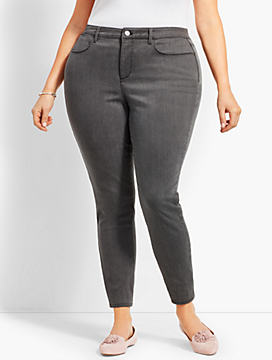 Womans Exclusive Denim Jegging - Curvy Fit/Cadet Grey