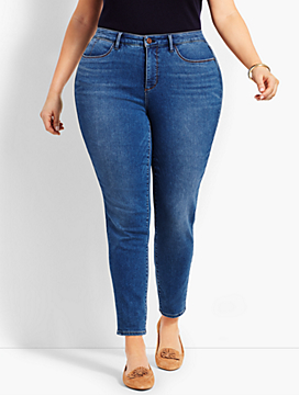 Plus Size Exclusive Denim Jegging - Curvy Fit/Cove Wash