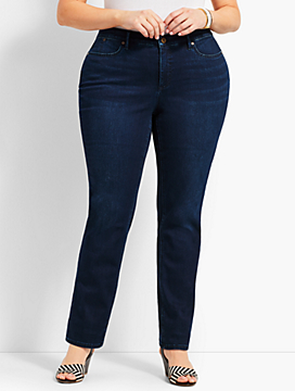 Womans Exclusive Denim Straight-Leg - Curvy Fit/Biscay Wash