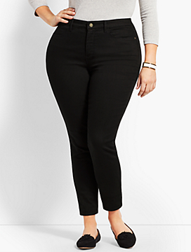 Womans Exclusive Denim Jegging - Curvy Fit/Black