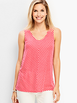 V-Stripe Tank Top
