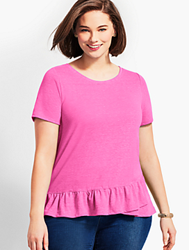 Inverness Tee With Ruffle