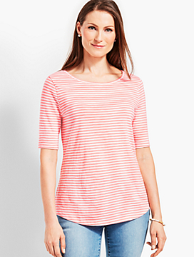 Sail Stripe Boatneck Tee