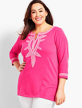 Plus Size Exclusive Tandoor Embroidered Tunic