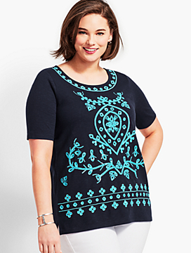 Plus Size Exclusive Embellished Tunic