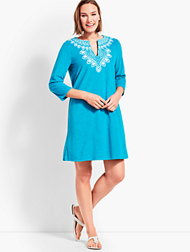 Embroidered Terry Tunic