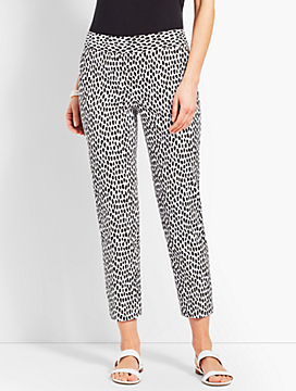 Slim Crop Pant - Cheetah Spot