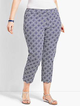 Womans Exclusive Talbots Tile Slim Crop