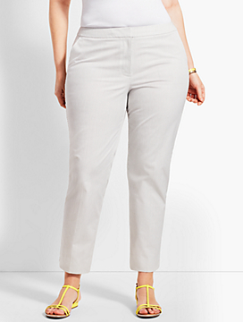 Plus Size Exclusive Talbots Hampshire Ankle Pant-Stripe