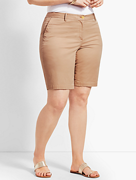 "Plus Size Exclusive 10"" Girlfriend Chino Short"