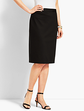 Refined Ponte Pull-On Pencil Skirt