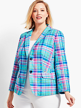 Madras Double-Button Sunshine Blazer