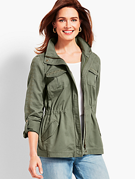 Casual Cotton Embroidered Safari Jacket