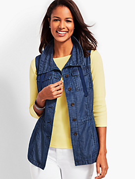Casual Chambray Vest