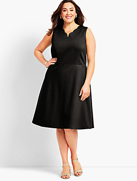 Refined Ponte Fit and Flare Dress