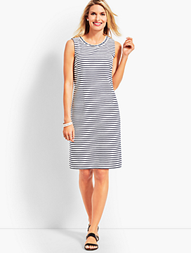 Stripe Ottoman Shift Dress