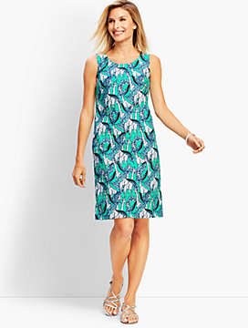 Giraffe-Print Shift Dress