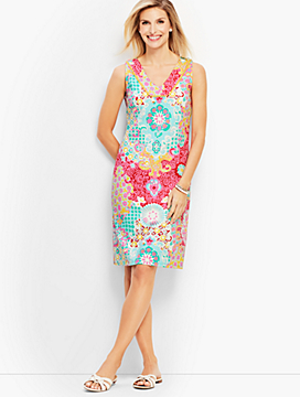 Medallion Interlock Shift Dress