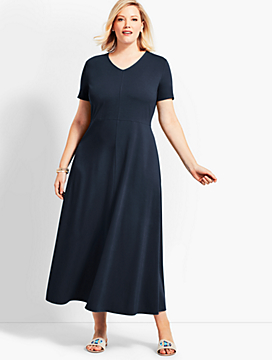 Womans Exclusive Casual Jersey Maxi Dress