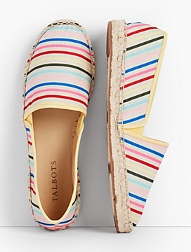 Izzy Stripe Canvas Espadrille