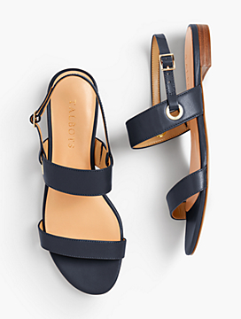 Keri Double Strap Sandals - Solid