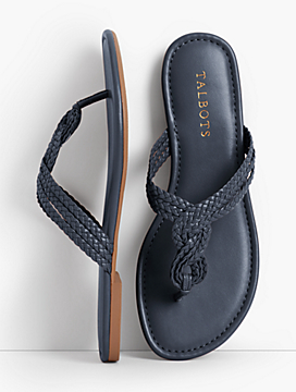 Cece Braided Thong Sandals - Faux Nappa