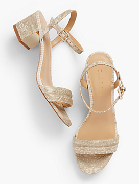 Mimi Luxe Exotic Block-Heel Sandals