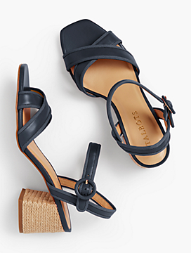 Siena Rope Heel Sandals - Soft Nappa